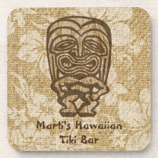 Ku-Tiki Hawaiian Tiki Bar Cork-backed Coasters