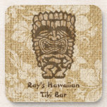"""Ku-Tiki Hawaiian Tiki Bar Cork-backed Coasters<br><div class=""""desc"""">Ku, is the god of war. He comes in many shapes and has many expressions. Some fear him, some like to drink with him. This tiki bar coaster will add a bit of Hawaiian humor to your own tiki bar or office and bring the spirit of Aloha! Customize it with...</div>"""