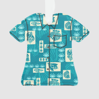 Kua Bay Hawaiian Undersea Shells Aloha Shirt Ornament