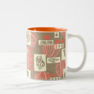 Kua Bay Hawaiian Undersea Shells Two-Tone Coffee Mug