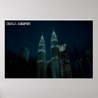Kuala Lumpur at night Poster