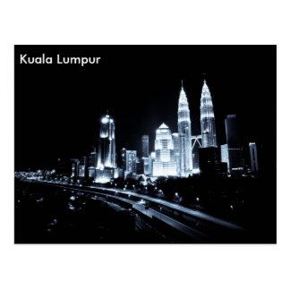Kuala Lumpur beautiful night lights scenery Postcard