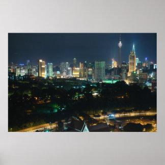 Kuala Lumpur Nightscape Large Giclee Print on Canv
