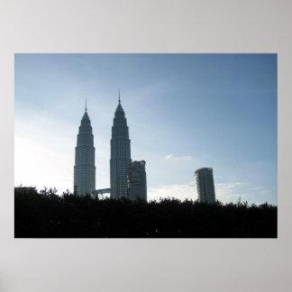Kuala Lumpur Towers Background Posters