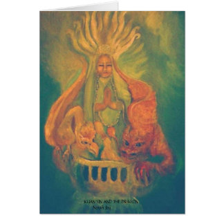 KUAN YIN AND THE DRAGON CARD