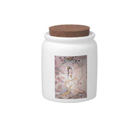 Kuan Yin; Buddhist Goddess Of Compassion Candy Jars