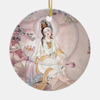 Kuan Yin; Buddhist Goddess Of Compassion Ceramic Ornament