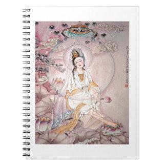 Kuan Yin; Buddhist Goddess Of Compassion Spiral Note Book