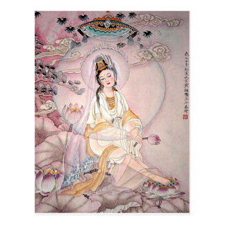 Kuan Yin; Buddhist Goddess Of Compassion Postcard