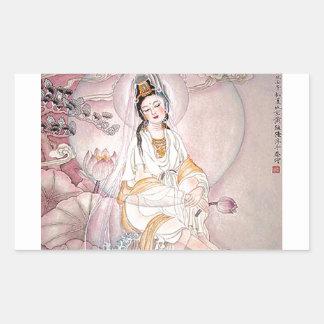 Kuan Yin; Buddhist Goddess Of Compassion Rectangular Sticker