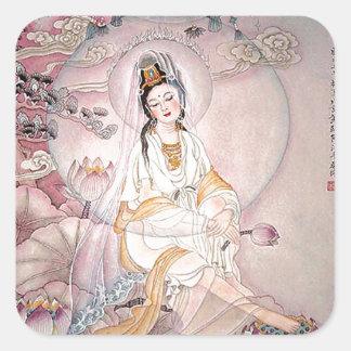 Kuan Yin; Buddhist Goddess Of Compassion Square Sticker