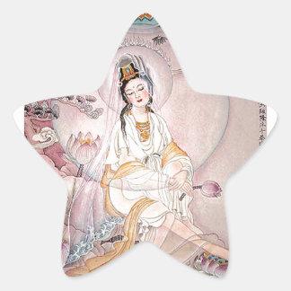 Kuan Yin; Buddhist Goddess Of Compassion Star Sticker