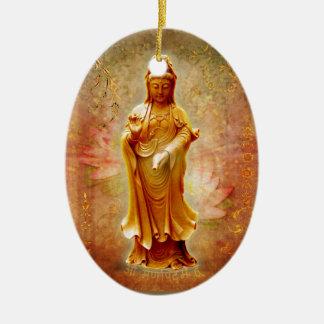 Kuan Yin Ceramic Ornament
