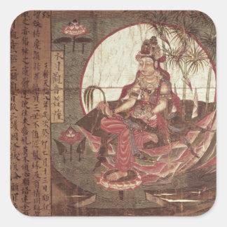 Kuan-yin, Goddess of Compassion Square Sticker