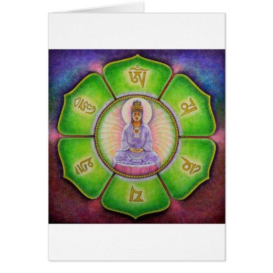 "Kuan Yin ""Om Mani Padme Hum"" Greeting Card"