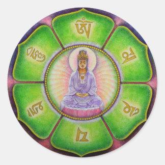 "Kuan Yin ""Om Mani Padme Hum"" Sticker"