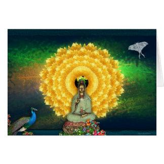 Kuan Yin Wall Tapestry Greeting Card