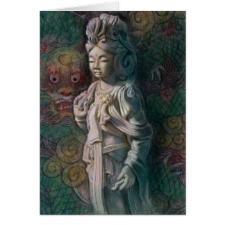 Kuan Yin's Dragon Art Card