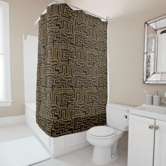 Kuba Cloth Graphic Shower Curtain