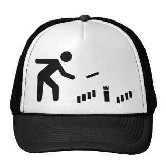 Kubb player trucker hat
