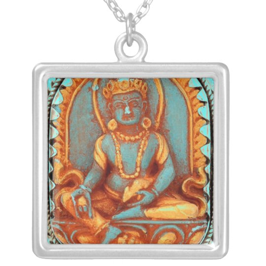 KUBERA GOD OF WEALTH SILVER PLATED NECKLACE