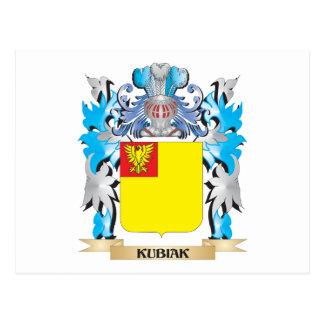 Kubiak Coat of Arms - Family Crest Postcard