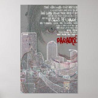 kubla khan paradise portrait poster