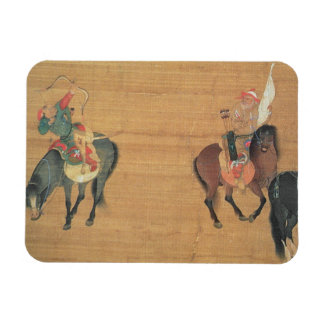 Kublai Khan (1214-94) Hunting (detail), Yuan dynas Rectangular Photo Magnet