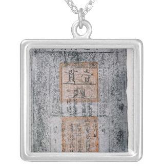 Kublai Khan , Emperor of China Square Pendant Necklace