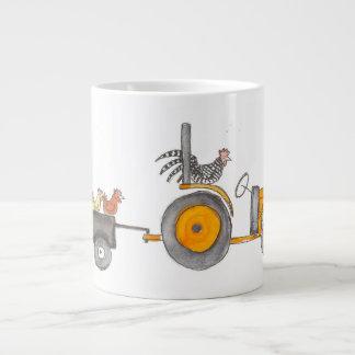 Kubota And Hens Large Coffee Mug