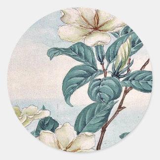 Kuchi nashi - cape jasmine / by Megata Morikaga Uk Classic Round Sticker