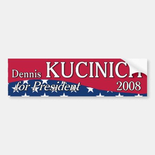 Kucinich Curved Bumper Sticker