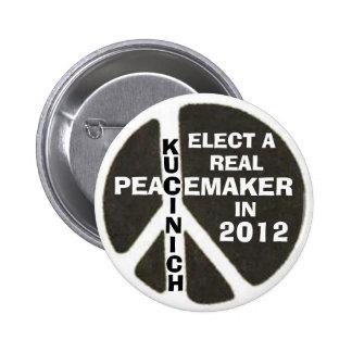 Kucinich para el presidente 2012 botón pin