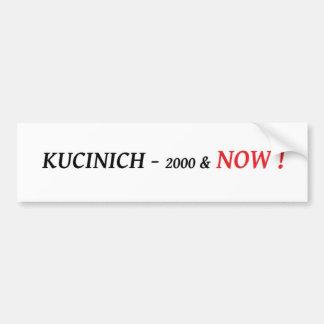 Kucinich para el presidente pegatina para el parac pegatina para auto