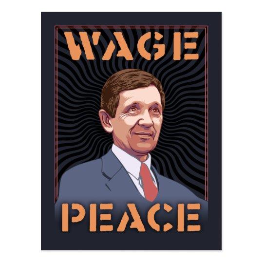 Kucinich - Wage Peace Postcard