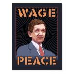 Kucinich - Wage Peace Postcards