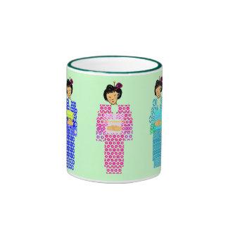 Kudasai de Ocha del té verde por favor - Taza De Dos Colores