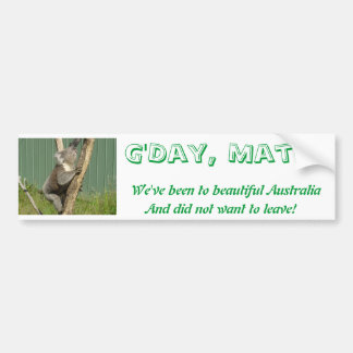 Kuddly Koalas in Australia Bumper Stickers