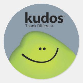 Kudos® Gray Classic Round Sticker
