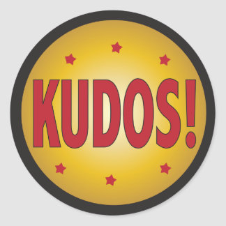 KUDOS recognition and appreciation Classic Round Sticker