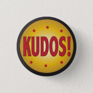 KUDOS recognition and appreciation Pinback Button