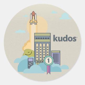 Kudos® Rocket Classic Round Sticker