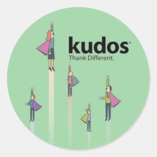Kudos® Superhero Classic Round Sticker