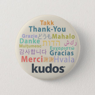 Kudos® Thank-you Pinback Button