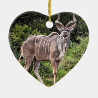 Kudu. Adorno De Cerámica En Forma De Corazón