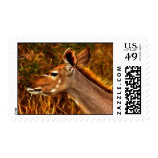 Kudu Profile - Postage Stamp