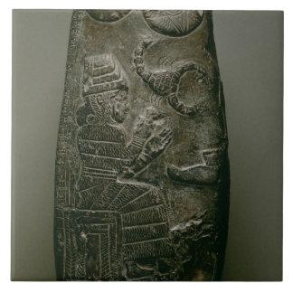Kudurru de Nazimaruttash, rey de Babilonia, c.1328 Azulejo Cuadrado Grande