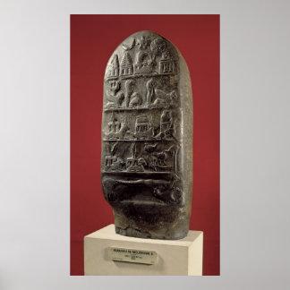 Kudurru de rey Melishikhu II Póster