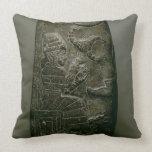 Kudurru of Nazimaruttash, King of Babylon, c.1328- Throw Pillows