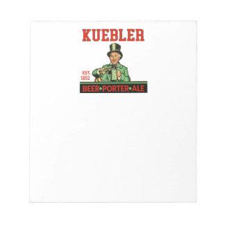 Kuebler Porter Ale Notepad